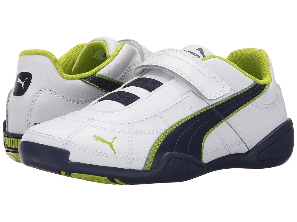 Puma Kids - Tune Cat B 2 V (Toddler/Little Kid/Big Kid) (White/Peacoat/Lime Punch) Boy's Shoes