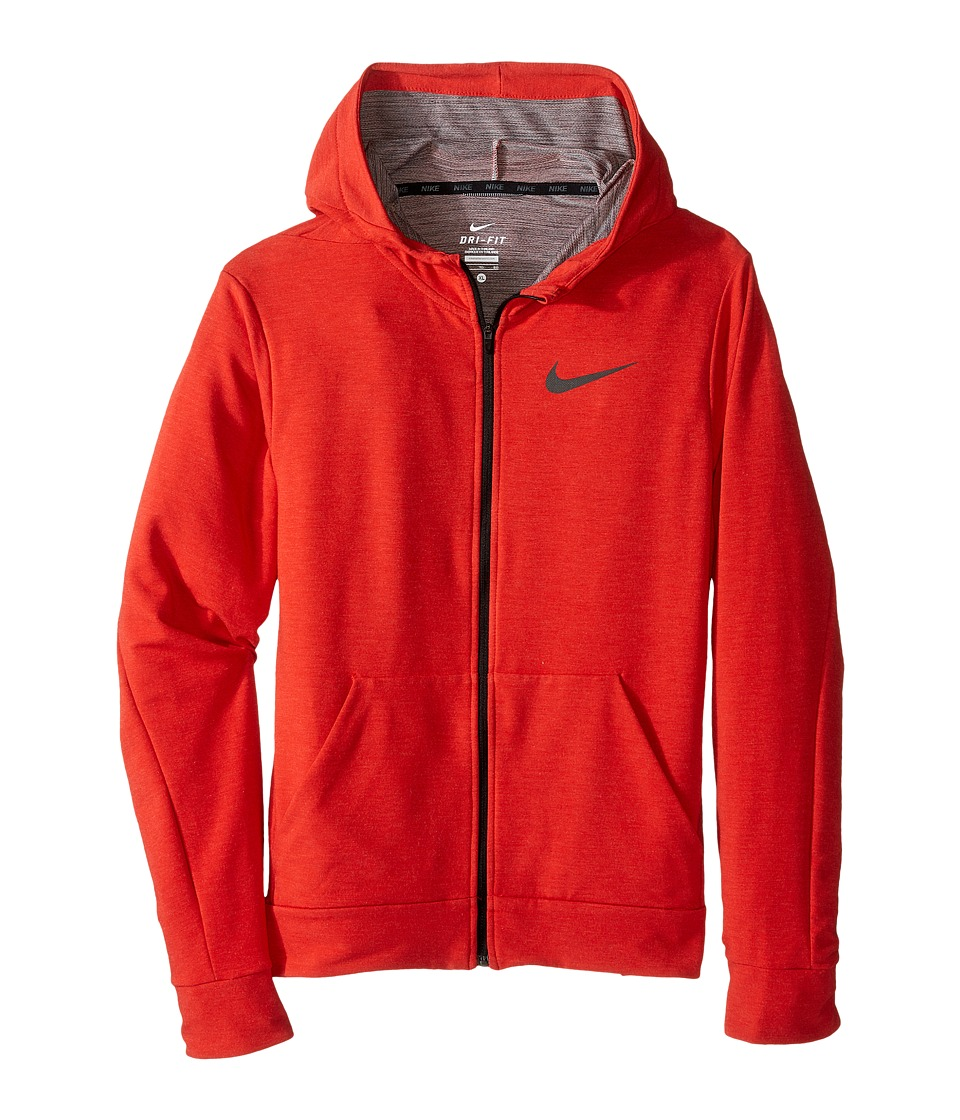 Nike Kids - Dri-FIT Fleece Training Hoodie (Little Kids/Big Kids) (University Red/Black) Boy's Clothing