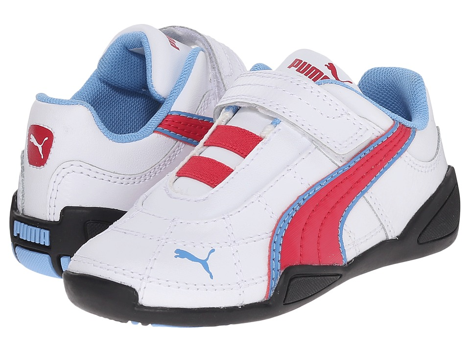 Puma Kids - Tune Cat B 2 V (Toddler/Little Kid/Big Kid) (White/Rose Red/Little Boy Blue) Girls Shoes