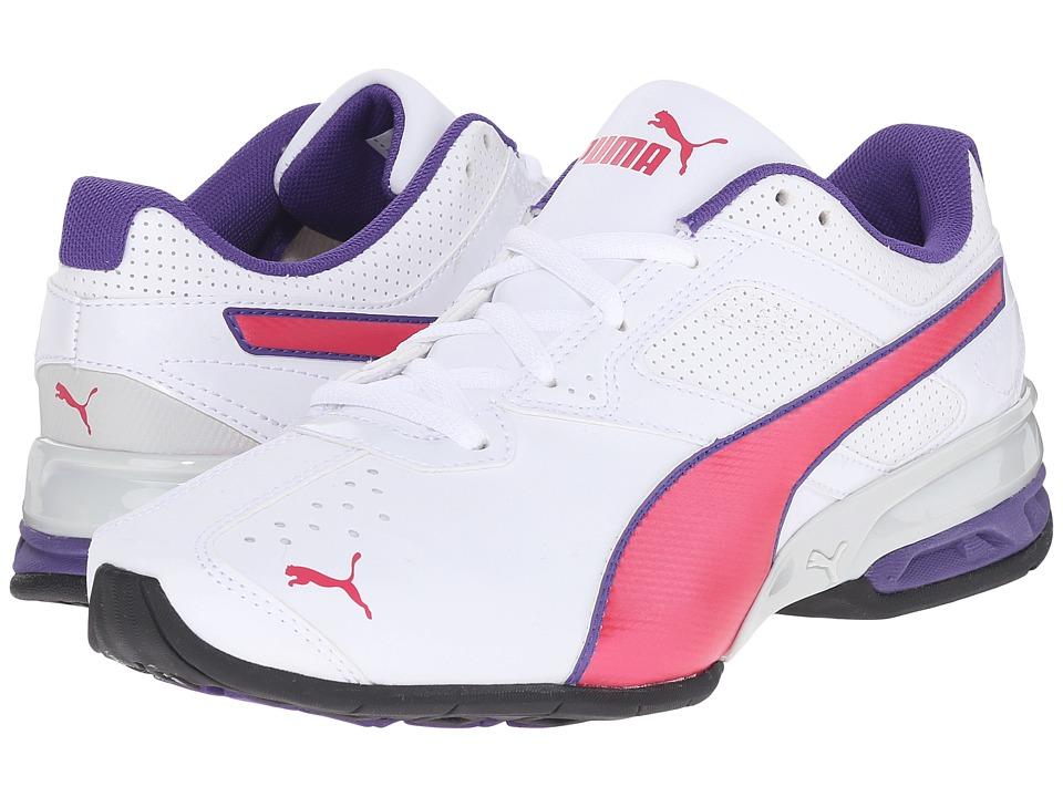 Puma Kids - Tazon 6 SL (Little Kid/Big Kid) (White/Rose Red) Girls Shoes