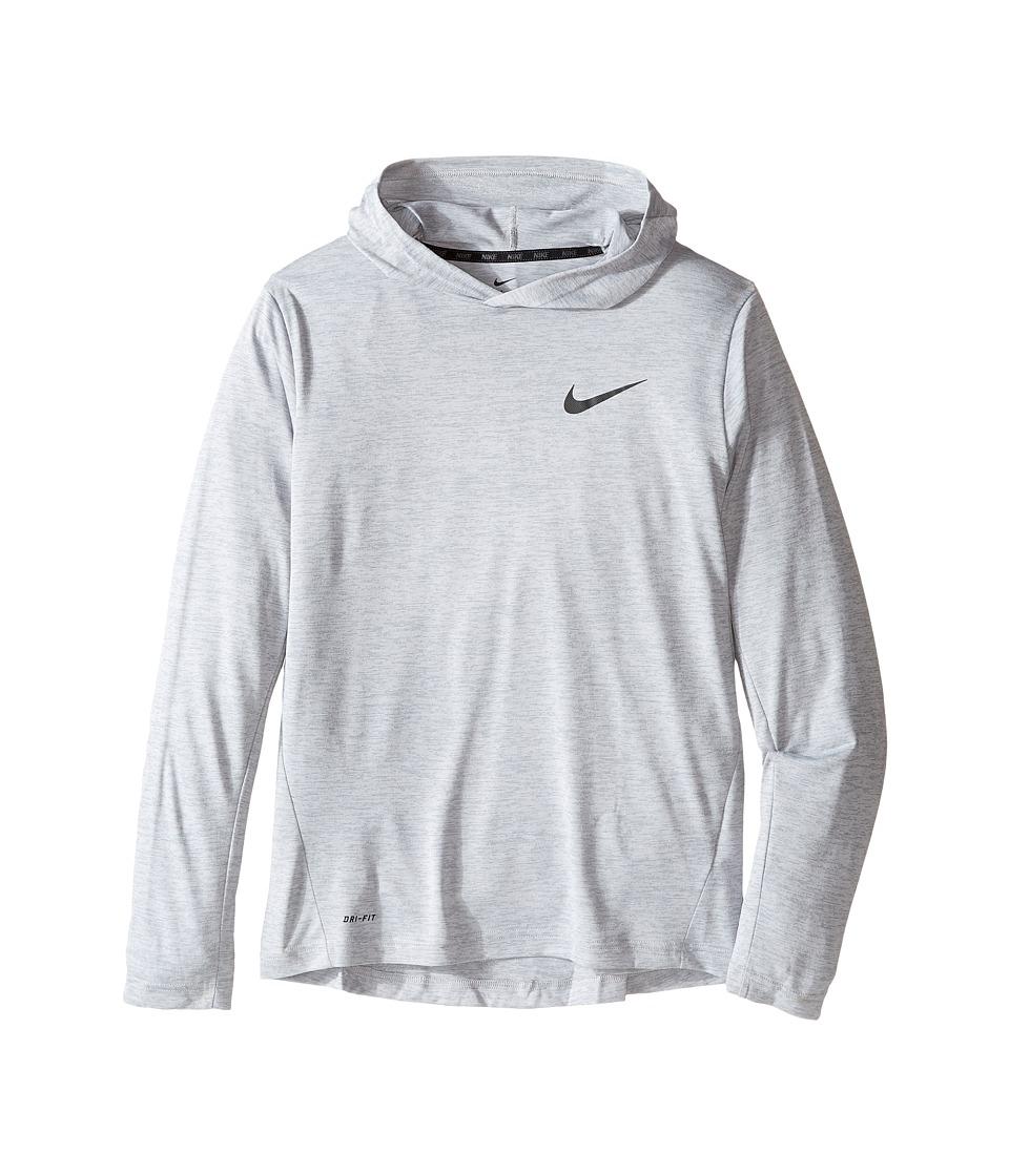 Nike Kids - Training Hoodie (Little Kids/Big Kids) (Cool Grey/Black) Boy's Clothing