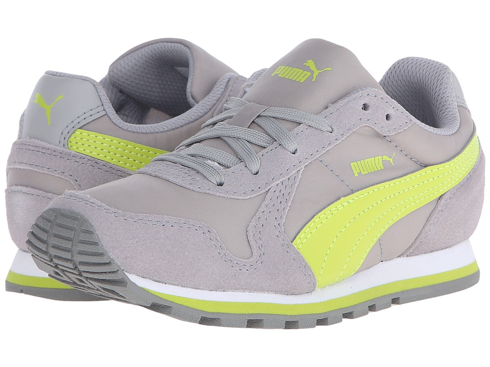 Puma Kids - ST Runner NL Jr (Little Kid/Big Kid) (Limestone Gray/Lime Punch) Boys Shoes