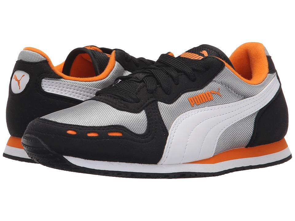 Puma Kids - Cabana Racer Mesh Jr (Little Kid/Big Kid) (Limestone Gray/White) Boys Shoes