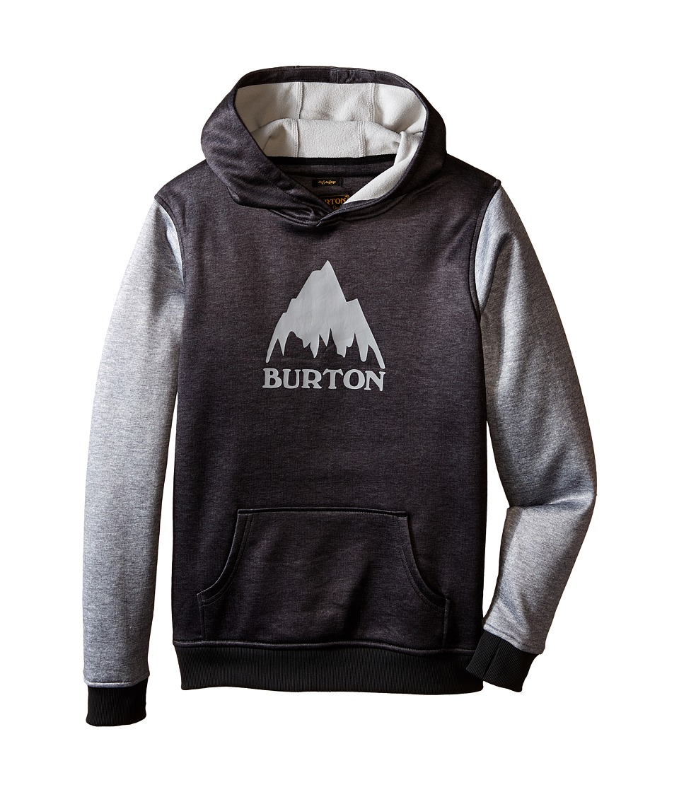 Burton Kids - Crown Bonded Pullover Hoodie (Little Kids/Big Kids) (True Black/High Rise Heather) Boy's Sweatshirt