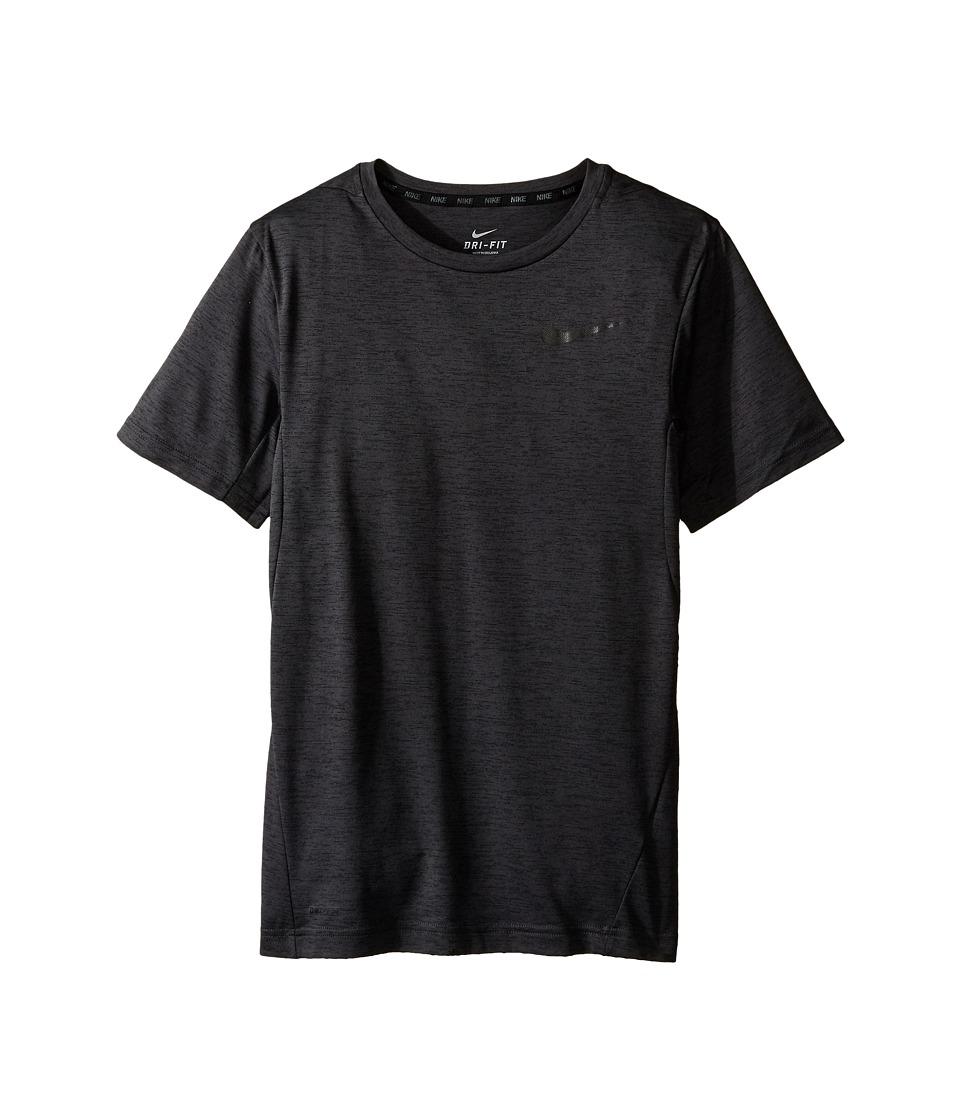 Nike Kids - Dri-FIT Training Shirt (Little Kids/Big Kids) (Black/Black) Boy's Short Sleeve Pullover