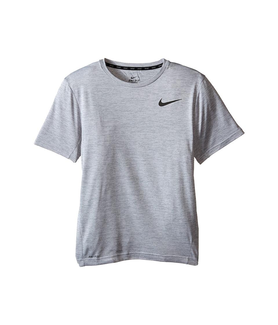 Nike Kids - Dri-FITtm Training Shirt (Little Kids/Big Kids) (Cool Grey/Black) Boy's Short Sleeve Pullover