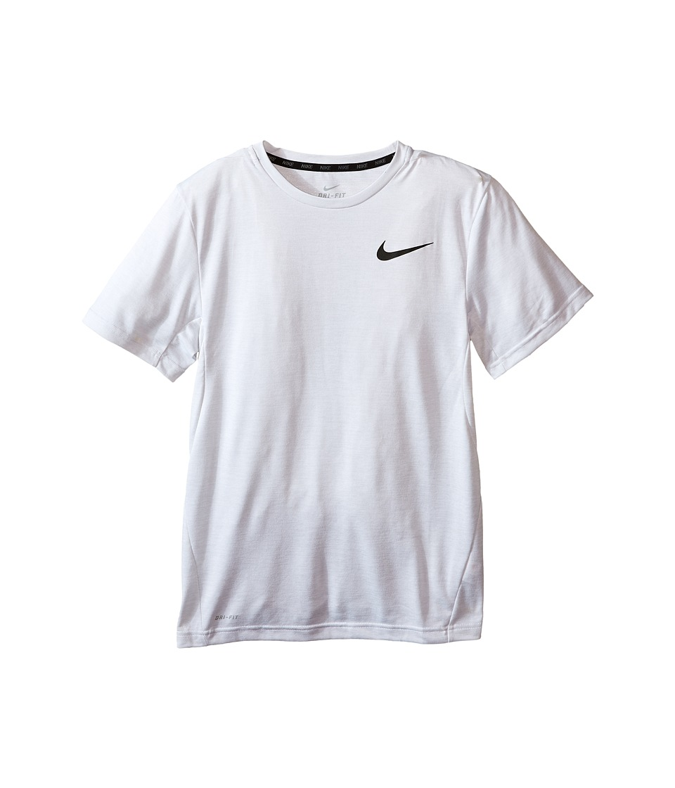 Nike Kids - Dri-FIT Training Shirt (Little Kids/Big Kids) (White/Black) Boy's Short Sleeve Pullover