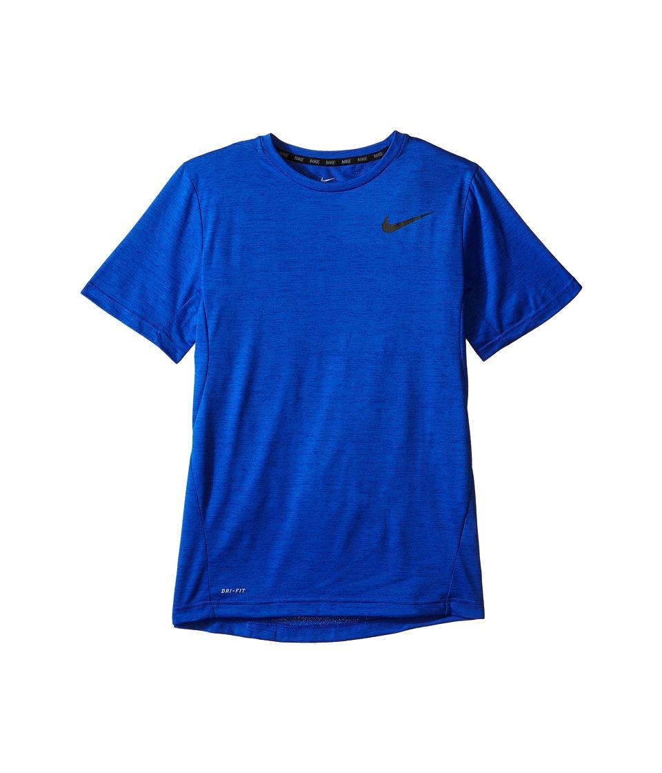 Nike Kids - Dri-FIT Training Shirt (Little Kids/Big Kids) (Game Royal/Black) Boy's Short Sleeve Pullover