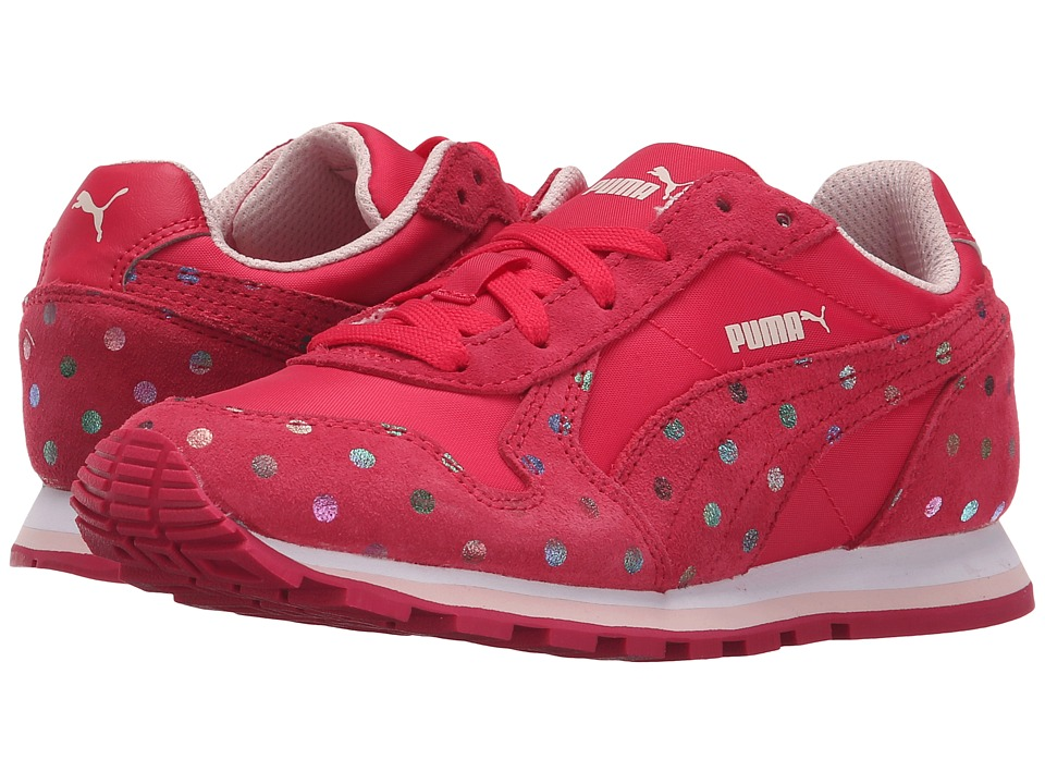 Puma Kids - ST Runner Dotfetti Jr (Little Kid/Big Kid) (Rose Red/Rose Red) Girls Shoes