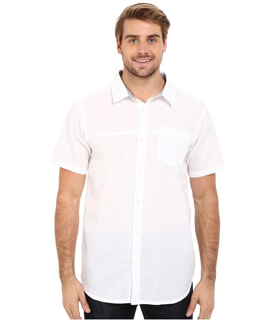 Columbia - Campside Crest Short Sleeve Shirt (White) Men's Short Sleeve Button Up