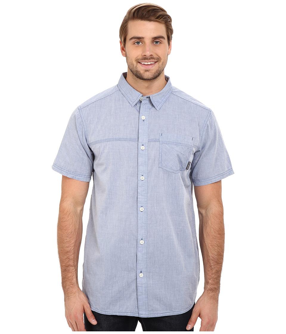 Columbia - Campside Crest Short Sleeve Shirt (Night Tide) Men's Short Sleeve Button Up