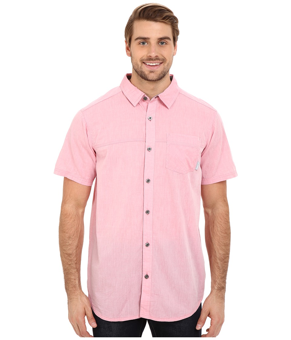 Columbia - Campside Crest Short Sleeve Shirt (Wild Salmon) Men's Short Sleeve Button Up