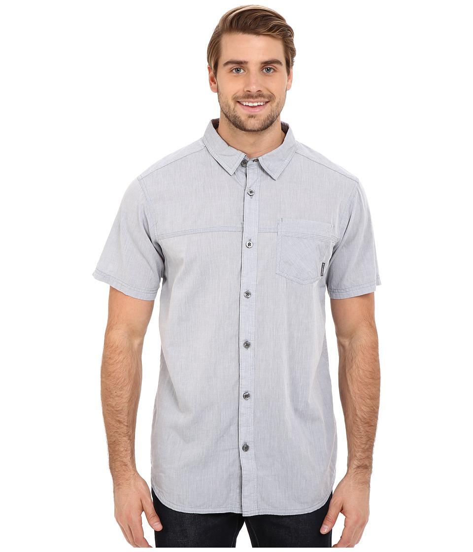 Columbia - Campside Crest Short Sleeve Shirt (Grey Ash) Men's Short Sleeve Button Up