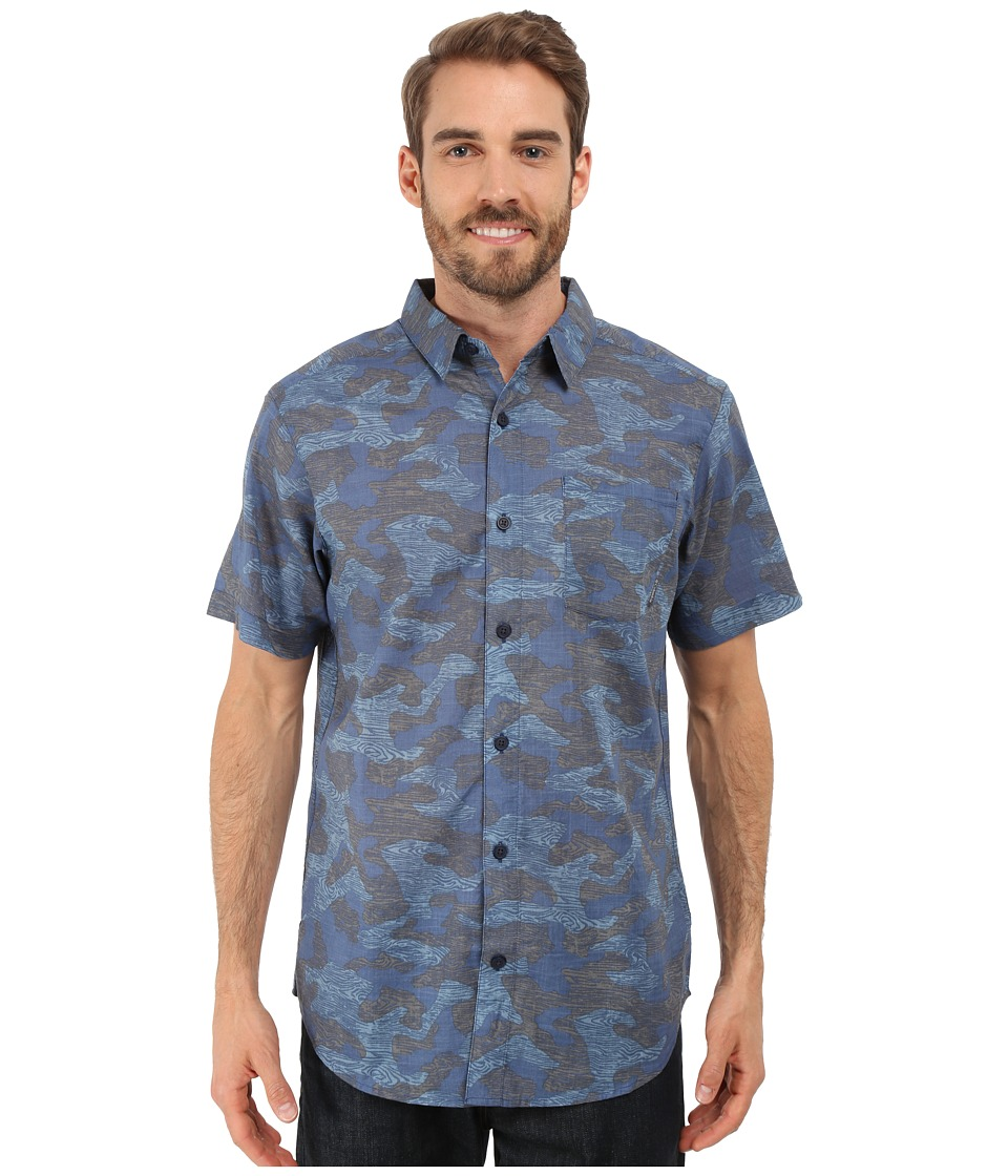 Columbia - Under Exposure II Short Sleeve Shirt (Night Tide Wood Camo Print) Men's Clothing