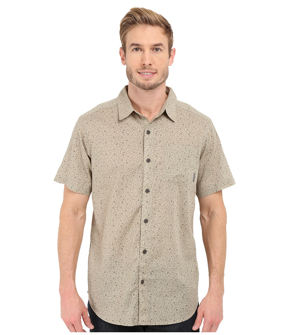 Columbia - Under Exposure II Short Sleeve Shirt (Tusk Micro Camp Print) Men's Clothing