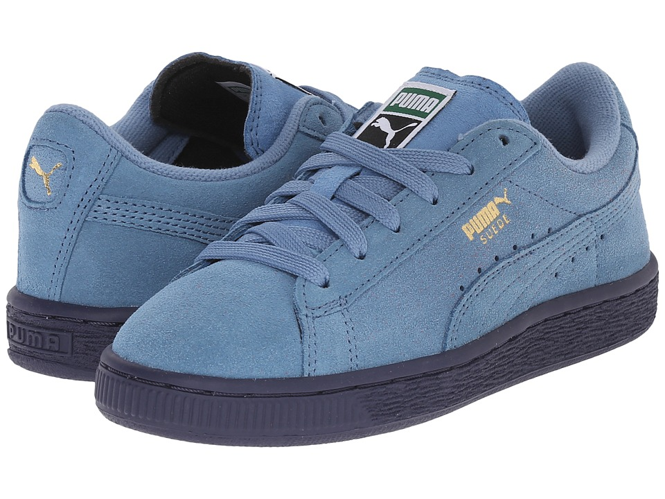 Puma Kids - Suede Jr (Little Kid/Big Kid) (Blue Heaven/Blue Heaven) Kids Shoes