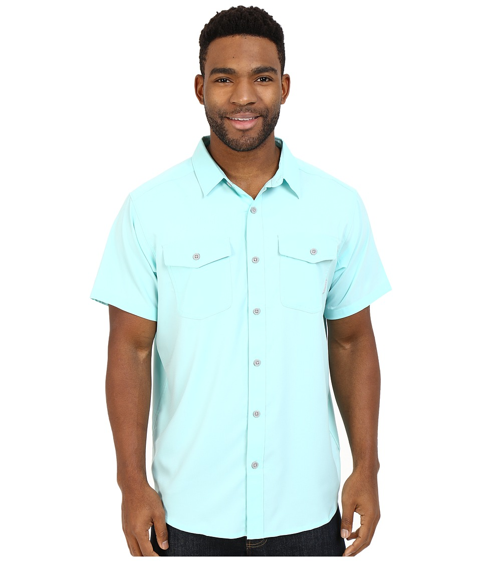 Columbia - Utilizer II Solid Short Sleeve Shirt (Ocean Water) Men's Short Sleeve Button Up
