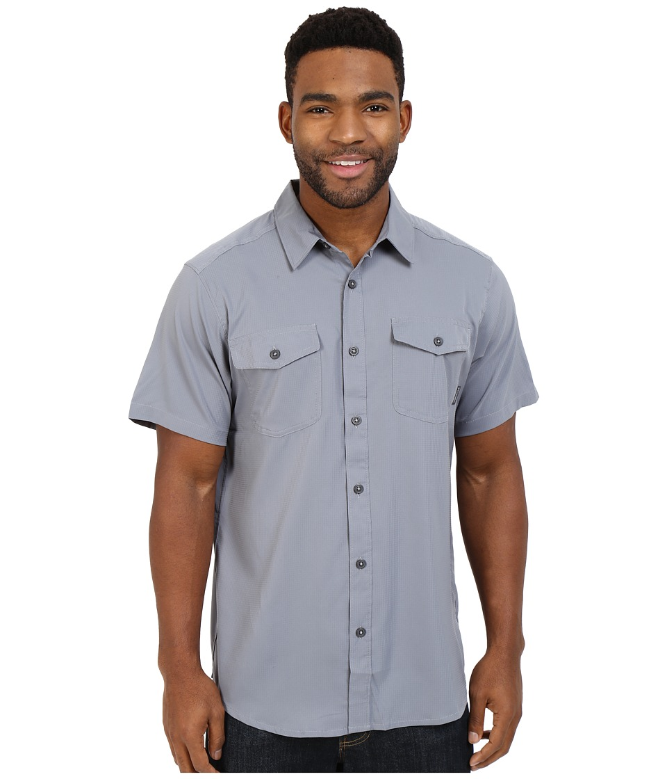 Columbia - Utilizer II Solid Short Sleeve Shirt (Grey Ash) Men's Short Sleeve Button Up