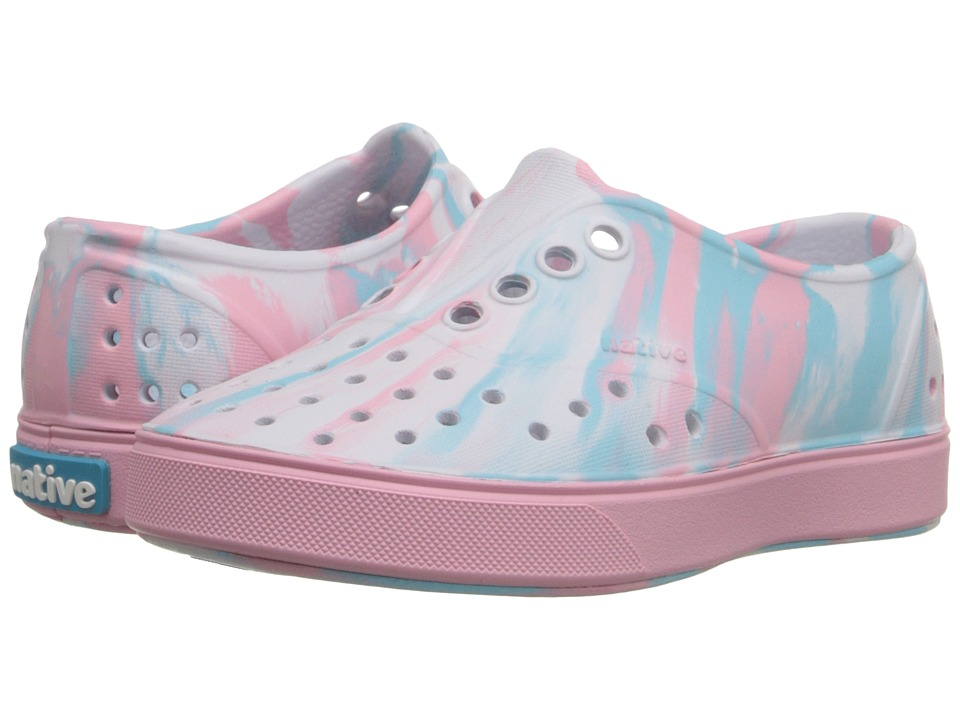 Native Kids Shoes - Miller (Toddler/Little Kid) (Shell White/Princess Pink Marbled) Girl's Shoes