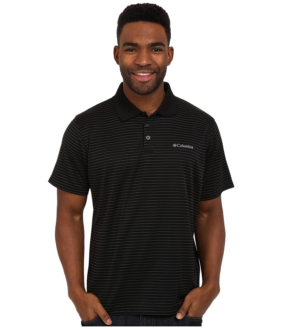 Columbia - Utilizer Stripe Polo III (Black) Men's Clothing