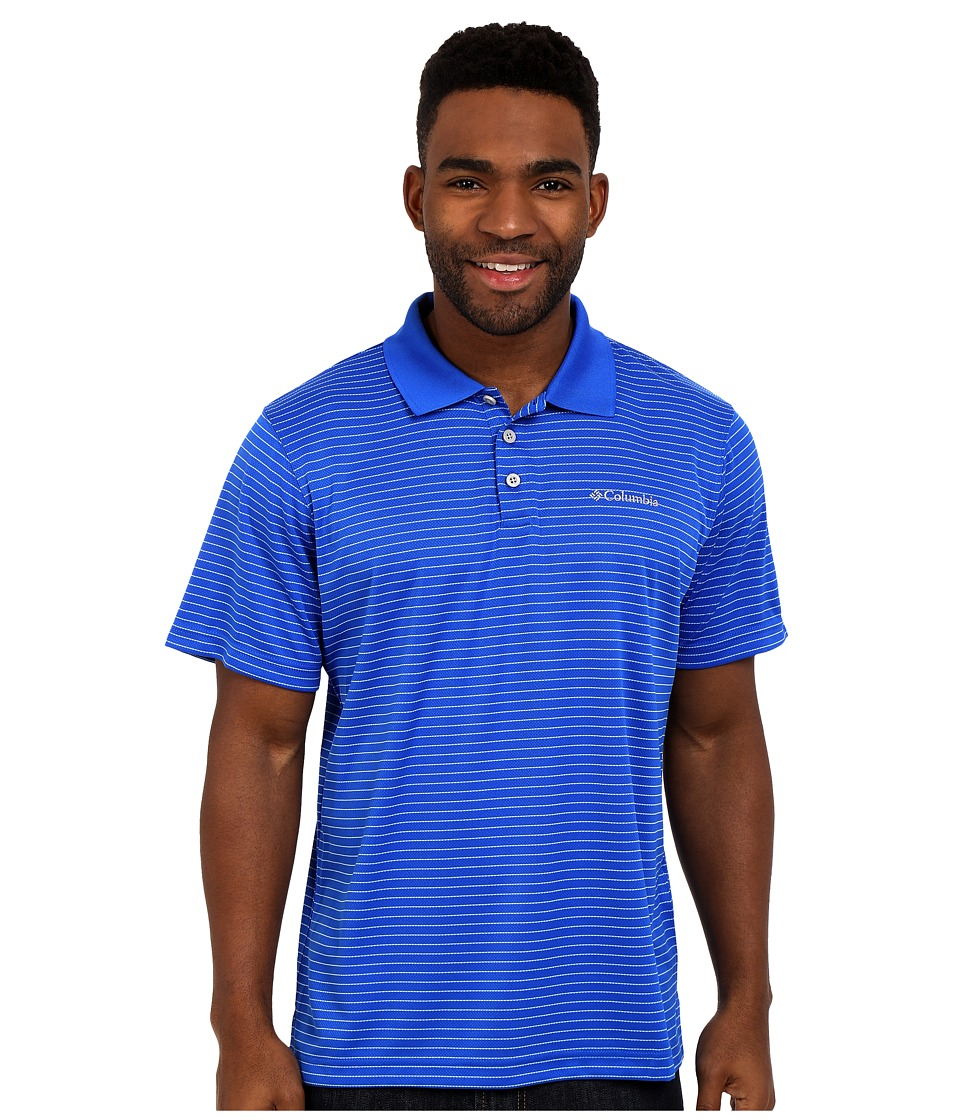 Columbia - Utilizer Stripe Polo III (Super Blue) Men's Clothing