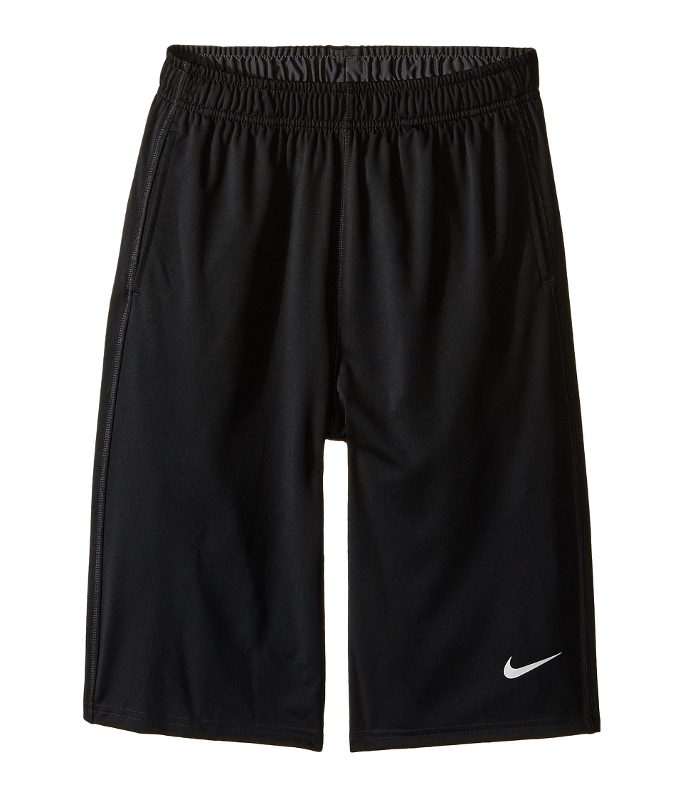 Nike Kids - Fly Short (Little Kids/Big Kids) (Black/Anthracite/Metallic Silver) Boy's Shorts