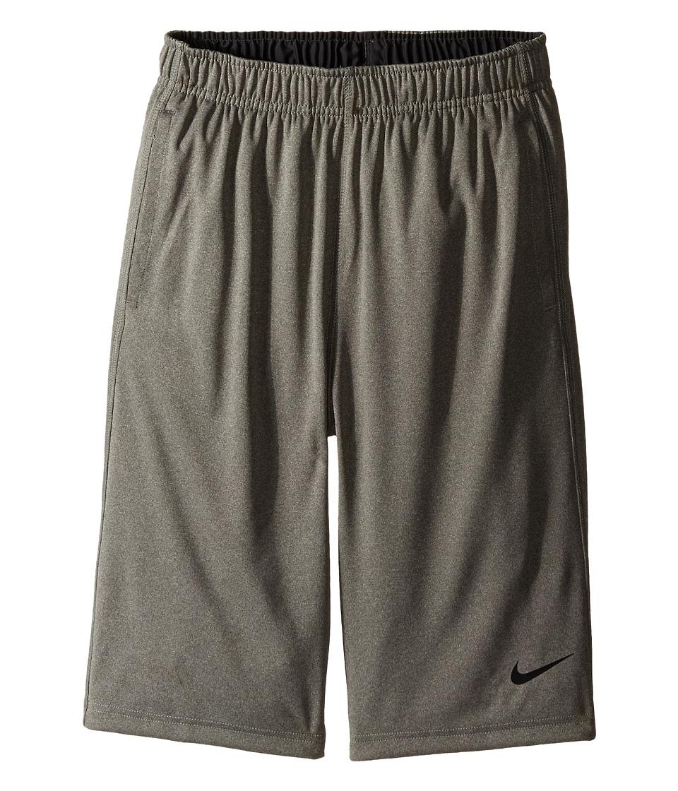 Nike Kids - Fly Short (Little Kids/Big Kids) (Carbon Heather/Anthracite/Black) Boy's Shorts