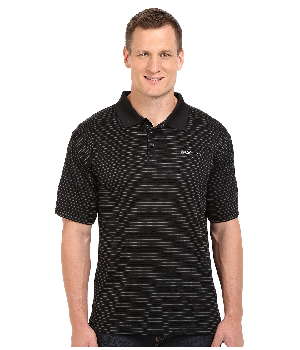 Columbia - Plus Size Utilizer Stripe Polo III (Black) Men's Short Sleeve Pullover
