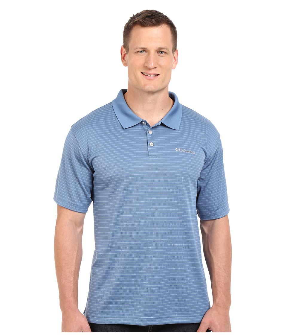 Columbia - Plus Size Utilizer Stripe Polo III (Steel) Men's Short Sleeve Pullover