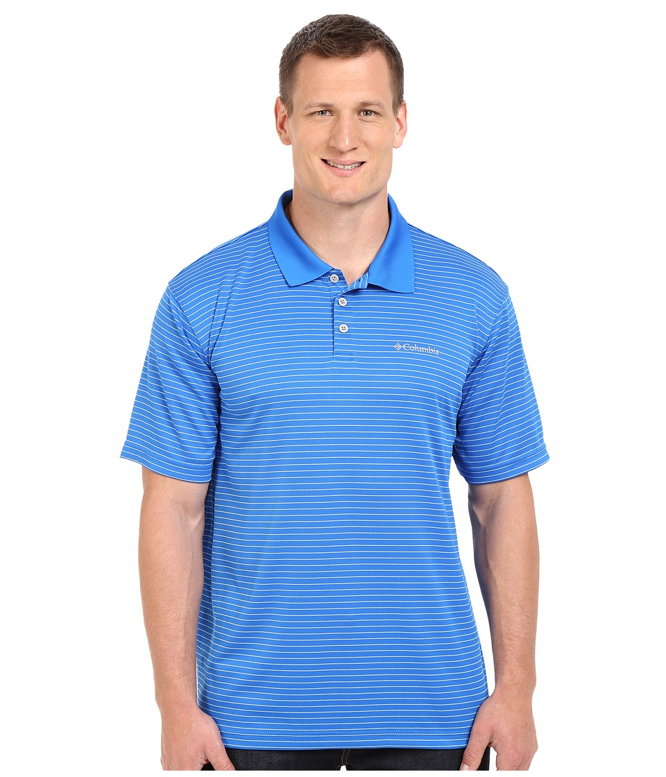 Columbia - Plus Size Utilizer Stripe Polo III (Super Blue) Men's Short Sleeve Pullover