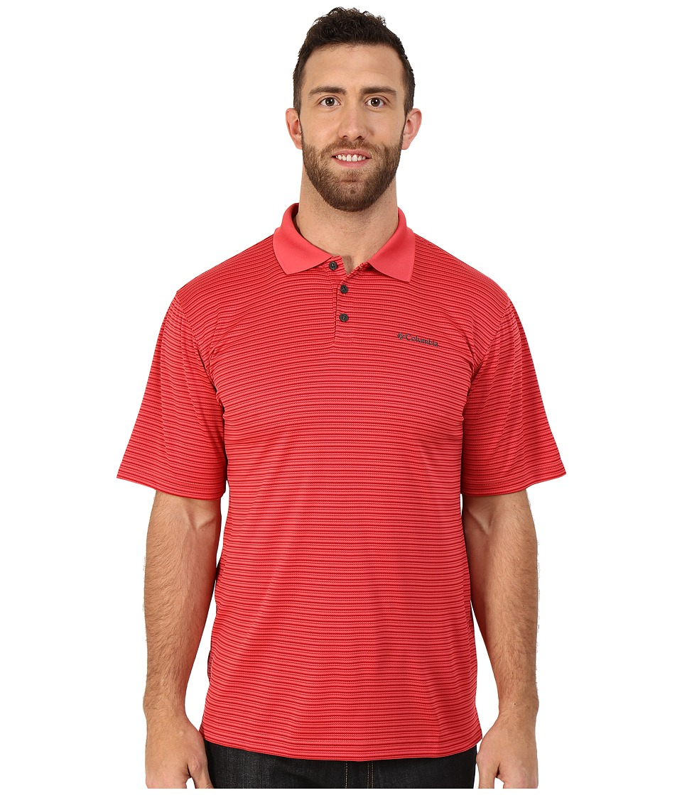 Columbia - Big Tall Utilizer Stripe Polo III (Sunset Red) Men's Short Sleeve Knit
