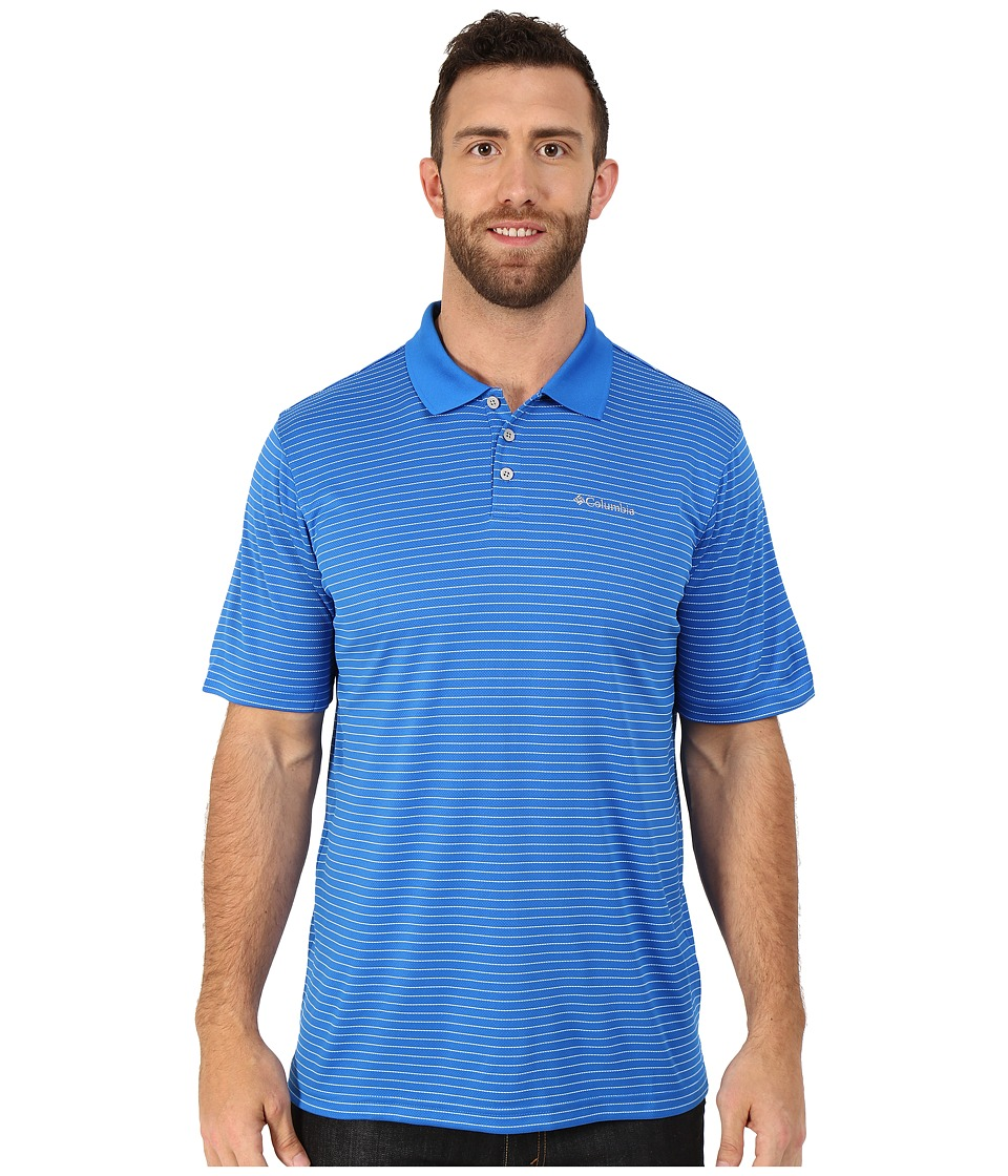 Columbia - Big Tall Utilizer Stripe Polo III (Super Blue) Men's Short Sleeve Knit