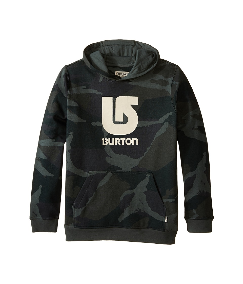 Burton Kids - Logo Vertical Pullover Hoodie (Big Kids) (Beetle Derby Camo) Boy's Sweatshirt