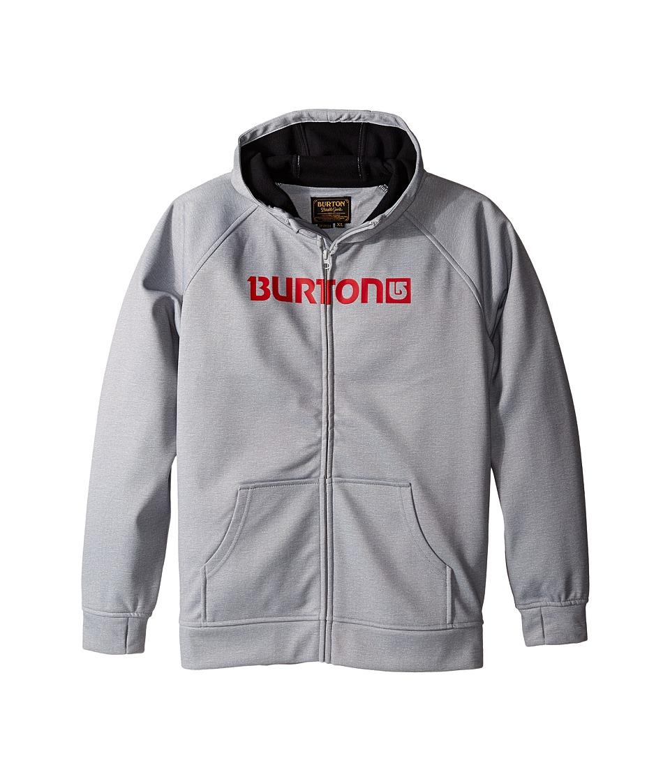 Burton Kids - Bonded Hoodie (Little Kids/Big Kids) (High Rise Heather) Boy's Sweatshirt