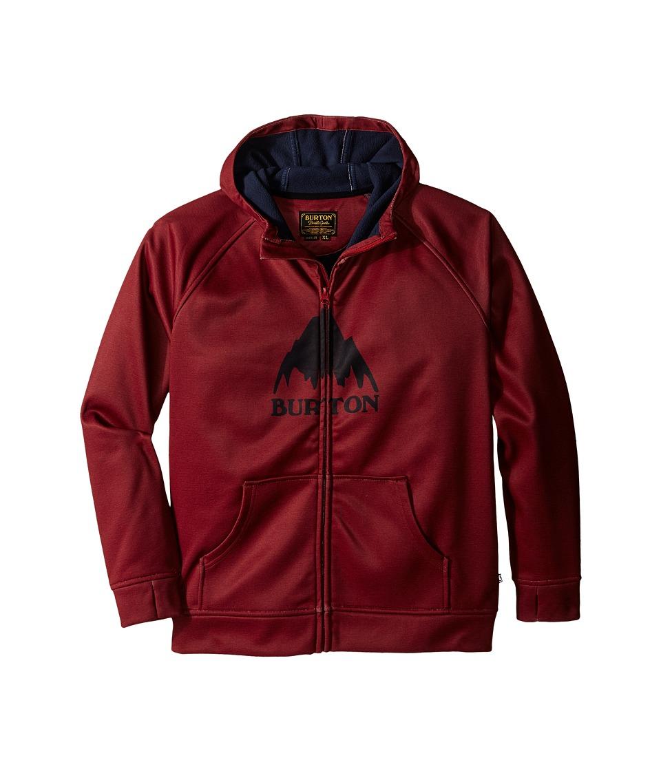 Burton Kids - Bonded Hoodie (Little Kids/Big Kids) (Brick Red Heather) Boy's Sweatshirt