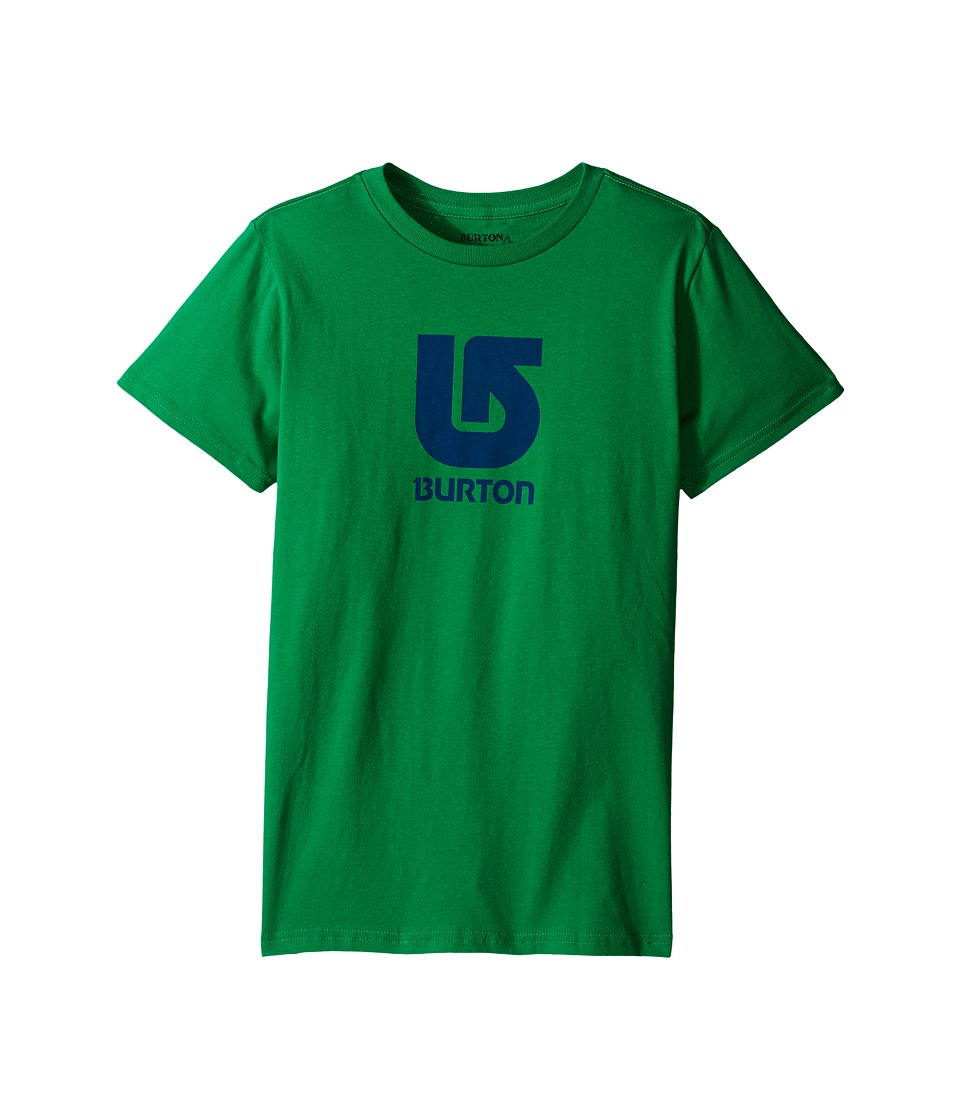 Burton Kids - Logo Vertical S/S Tee (Big Kids) (Kelly Green) Boy's Short Sleeve Pullover