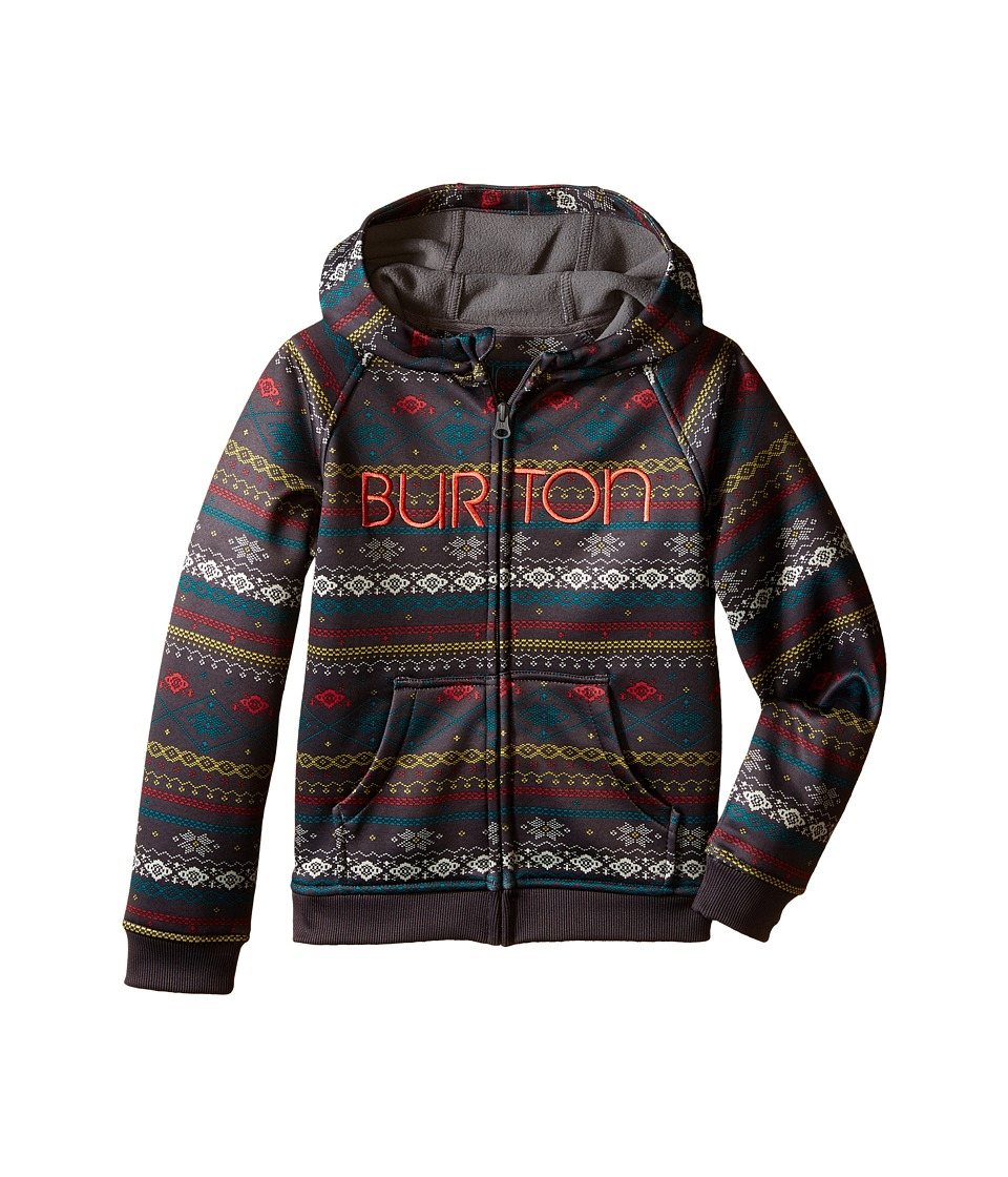 Burton Kids - Mini Scoop Hoodie (Toddler/Little Kids) (Dark Ash Ditsy Fairisle) Girl's Sweatshirt