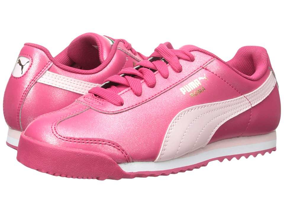 Puma Kids - Roma Basic Glitter Jr (Little Kid/Big Kid) (Rose Red/Pink Dogwood) Girls Shoes