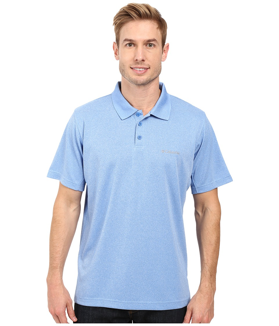 Columbia - New Utilizer Polo (Pacific Blue Heather) Men's Short Sleeve Pullover