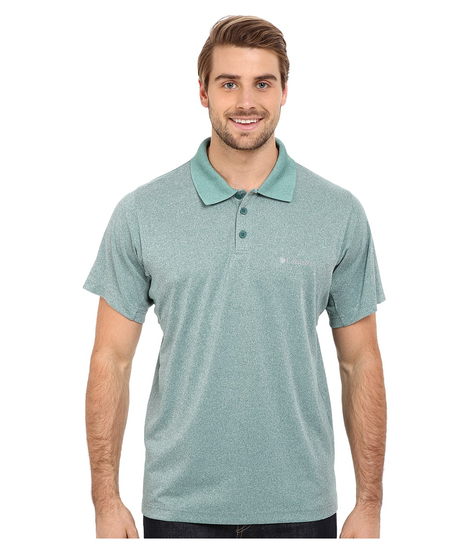 Columbia - New Utilizer Polo (Pine Green Heather) Men's Short Sleeve Pullover