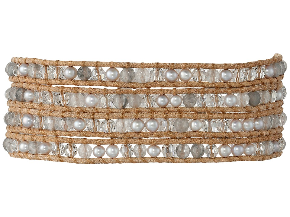 Chan Luu - 32' Grey Pearl Crystal Wrap Bracelet (Grey Pearl Mix) Bracelet