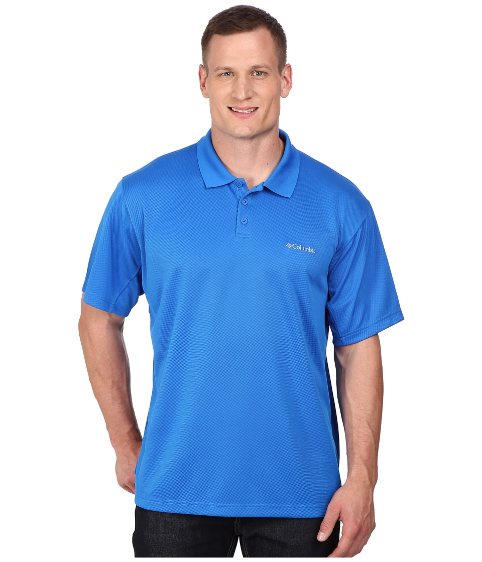 Columbia Big Tall New Utilizer Polo Super Blue Mens Short Sleeve Pullover
