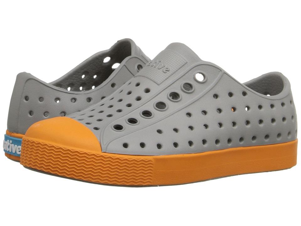 Native Kids Shoes - Jefferson (Toddler/Little Kid) (Pigeon Grey/Begonia Orange) Kid's Shoes