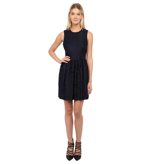 McQ - Volume Party Dress (Navy) Women
