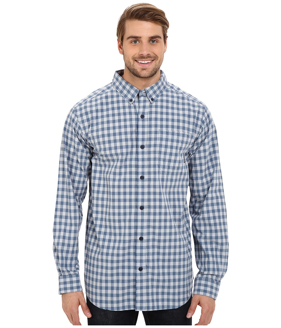 Columbia - Rapid Rivers Long Sleeve Shirt (Steel Gingham) Men's Long Sleeve Button Up