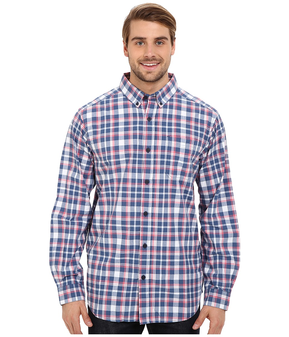 Columbia - Rapid Rivers Long Sleeve Shirt (Night Tide Square Plaid) Men's Long Sleeve Button Up