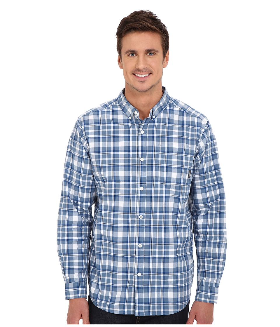 Columbia - Rapid Rivers Long Sleeve Shirt (Marine Blue Square Plaid) Men's Long Sleeve Button Up