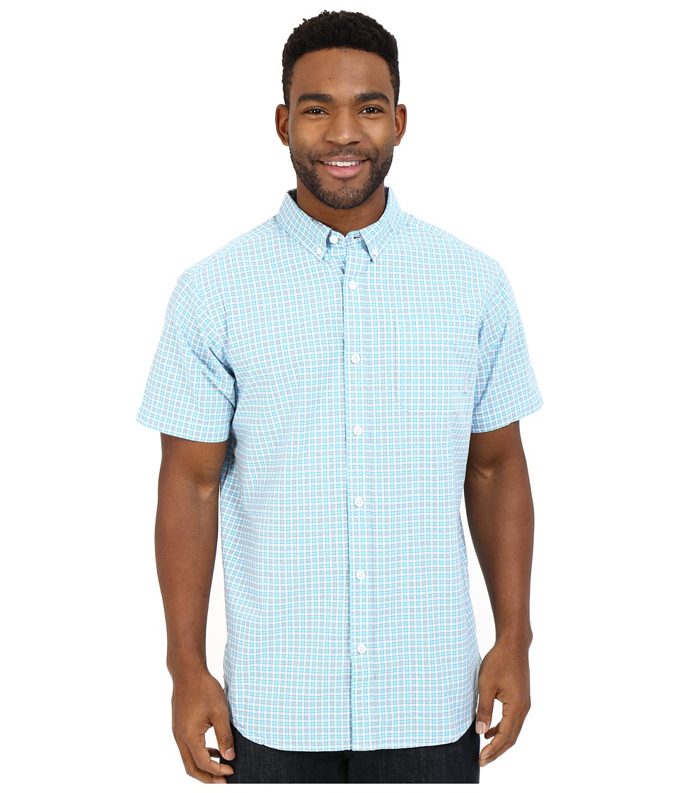 Columbia - Rapid Rivers II Short Sleeve Shirt (Coastal Blue Plaid) Men's Short Sleeve Button Up