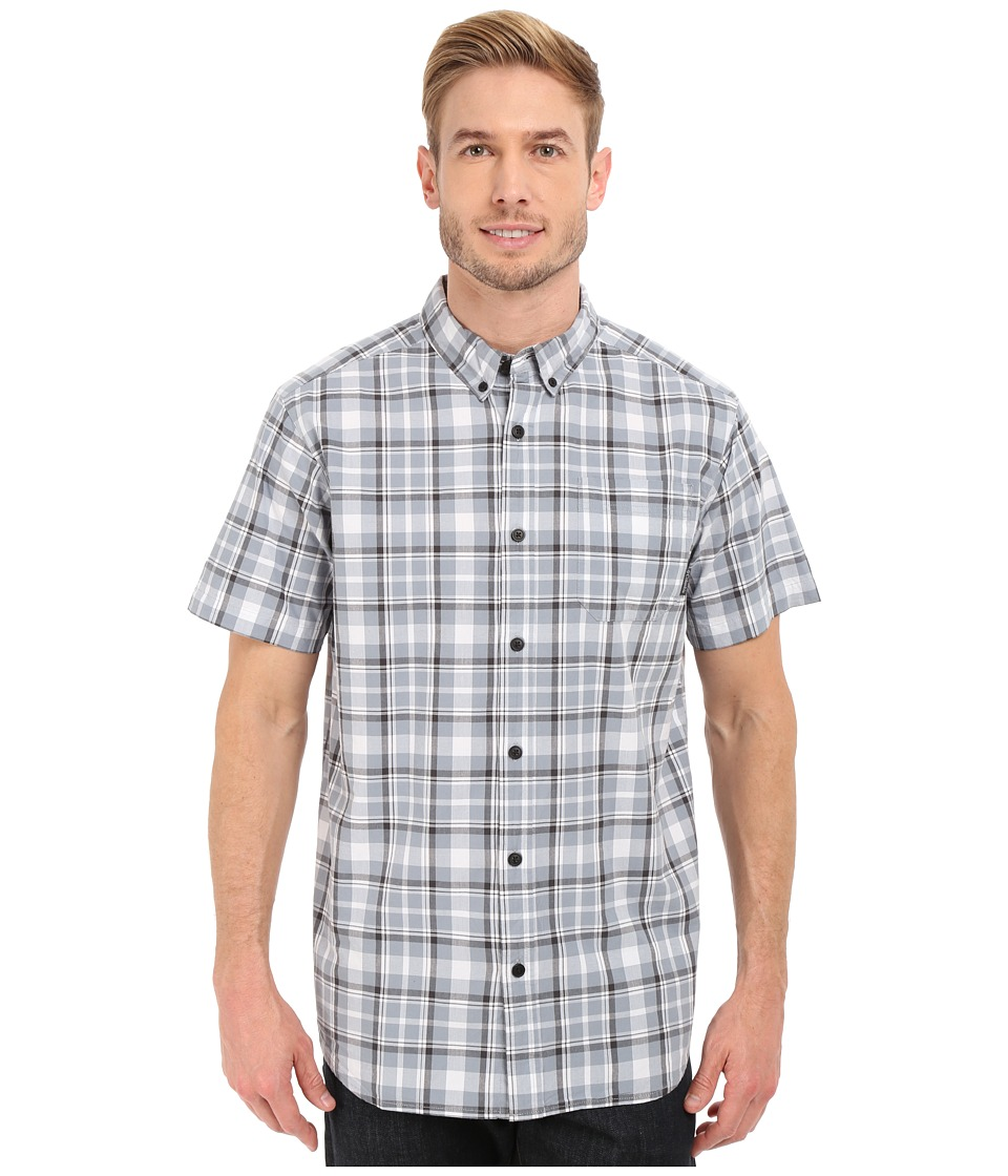 Columbia - Rapid Rivers II Short Sleeve Shirt (Tradewinds Grey Square Plaid) Men's Short Sleeve Button Up
