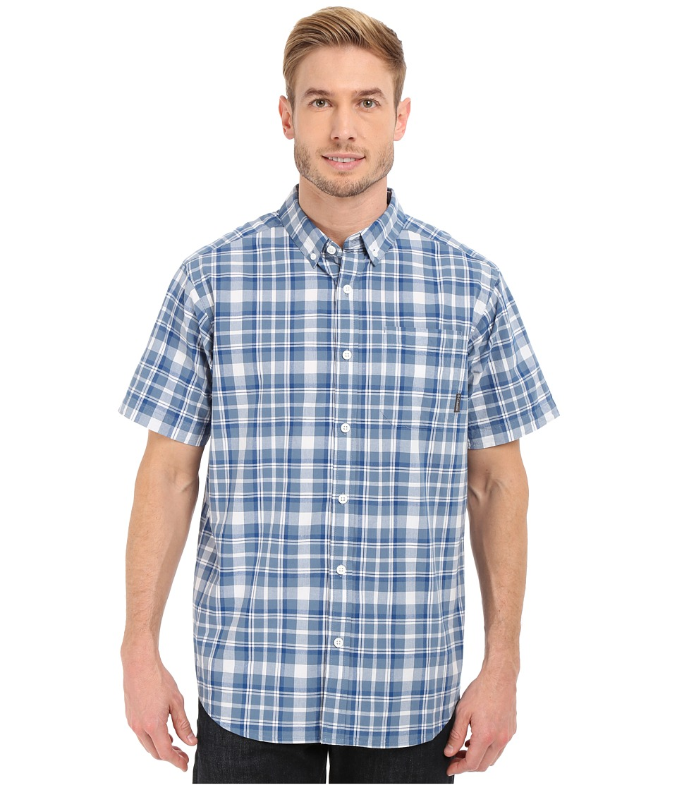 Columbia - Rapid Rivers II Short Sleeve Shirt (Marine Blue Square Plaid) Men's Short Sleeve Button Up